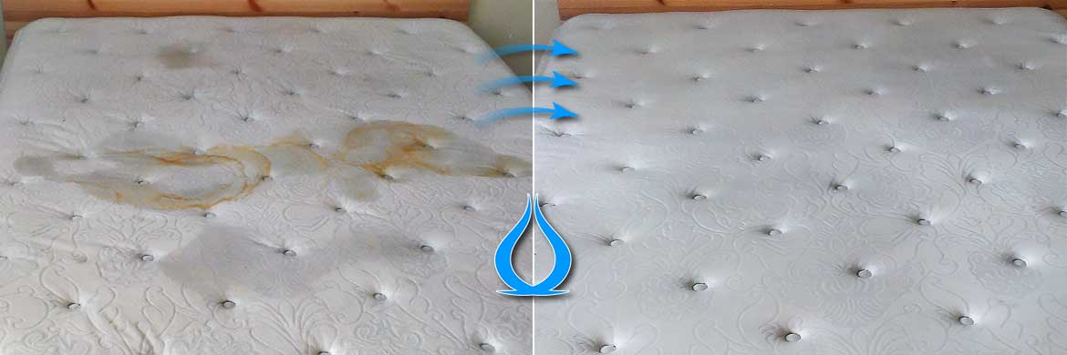Mattress cleaning Before After